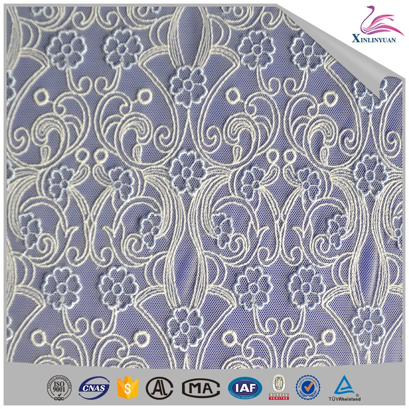 New design eyelet dubai lace