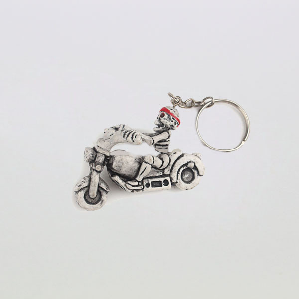 cheap wholesale human skeleton key chains/custom key ring with the fashion style
