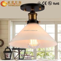 European antique copper ceiling lamps,corridor creative entrance hall balcony ceiling lamps