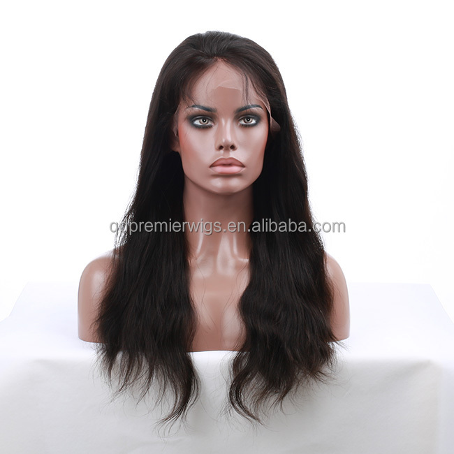 Malaysian Glueless Silk Top Full Lace Wig, Top Quality Virgin Human Hair Wig