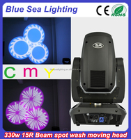 15r 330w sharpy beam spot wash 3in1 moving head light with CMY