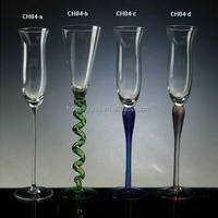 Transparent and colored glass promotional gifts glass candle holder&wholesale candlestick