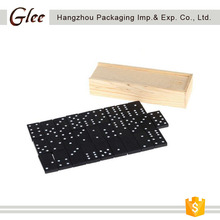 accept customized professional domino game wood domino