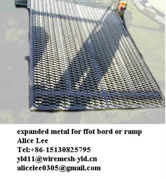 expanded metal mesh for car ramp or walkway