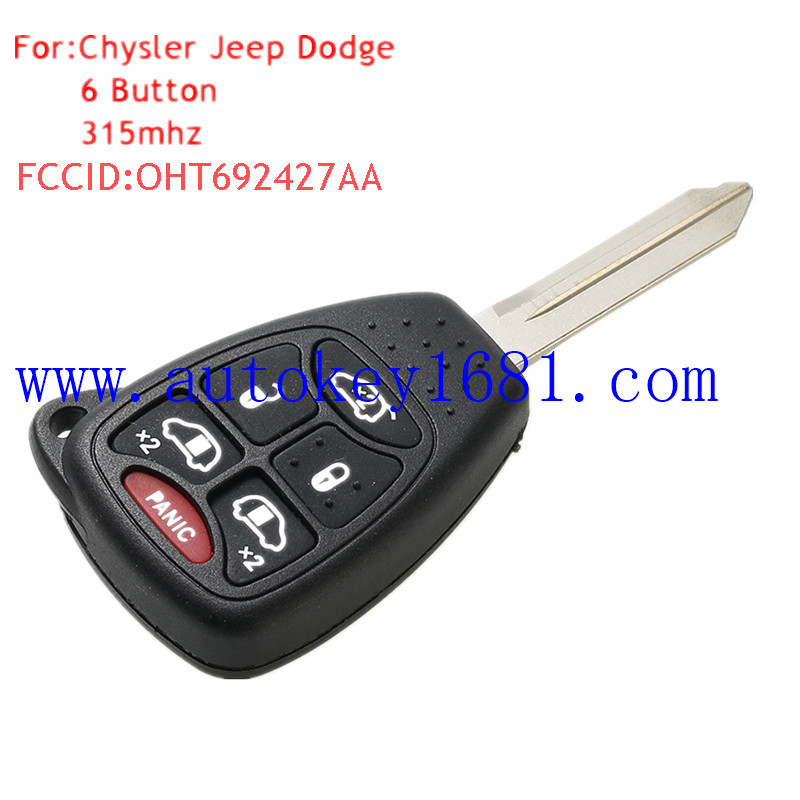 Remote key 315mhz with electric 46 chip for chrysler Town&Country dodge Grand Caravan jeep key