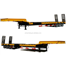 China CIMC hot sale 3 axle 45ft flatbed container semi trailer low price for sale