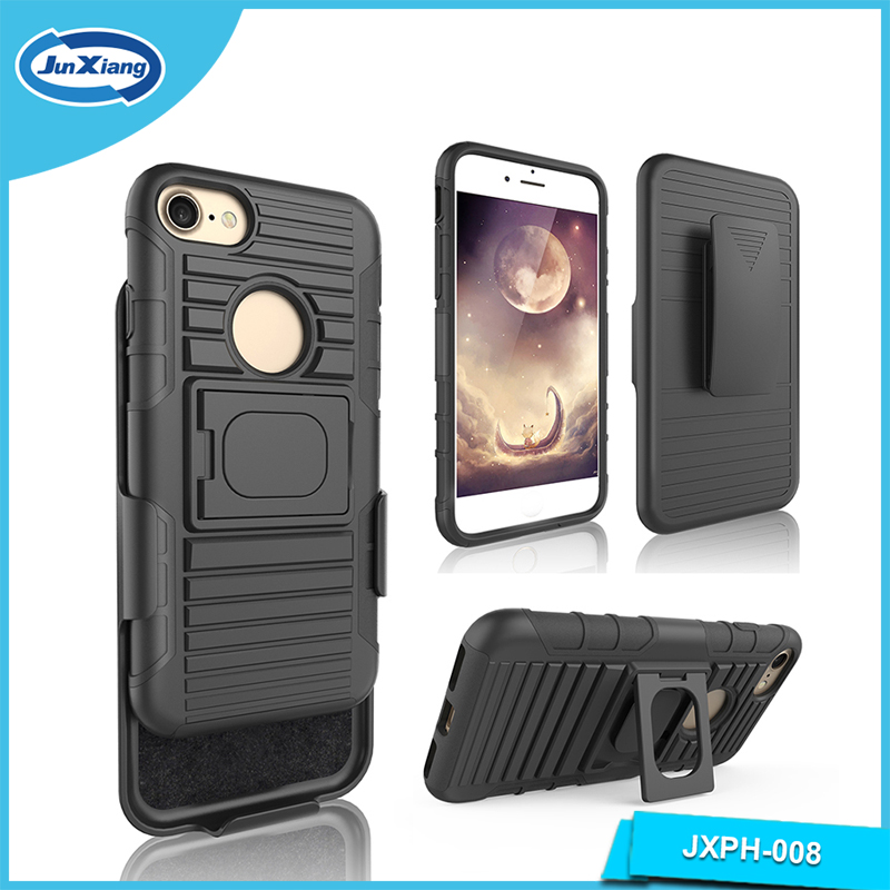 Cell phone accessories mobile covers of high quality holster swivel belt clip rugged case with kickstand for iPhone 6/7/6 plus