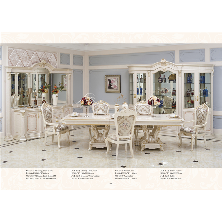 wood carved royal dining room furniture sets luxury home dining table set dining room set
