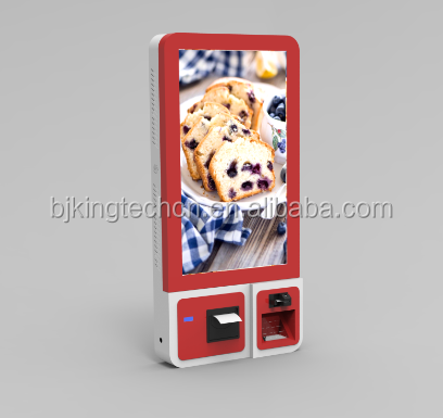 "32"" Wall mounted touch screen self service <strong>payment</strong> kiosk for restaurant and suermarket"