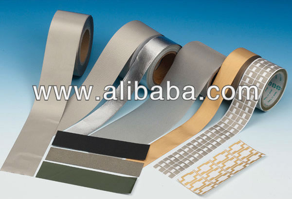 EMI shielding fabric electrically conductive adhesive tape