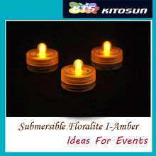 Amber Color LED Sharp Lighting! 11 Colors Available Single led Floralyte For All Soul's Day