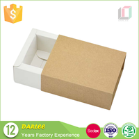 High end slide shape luxury kraft paper drawer box packaging