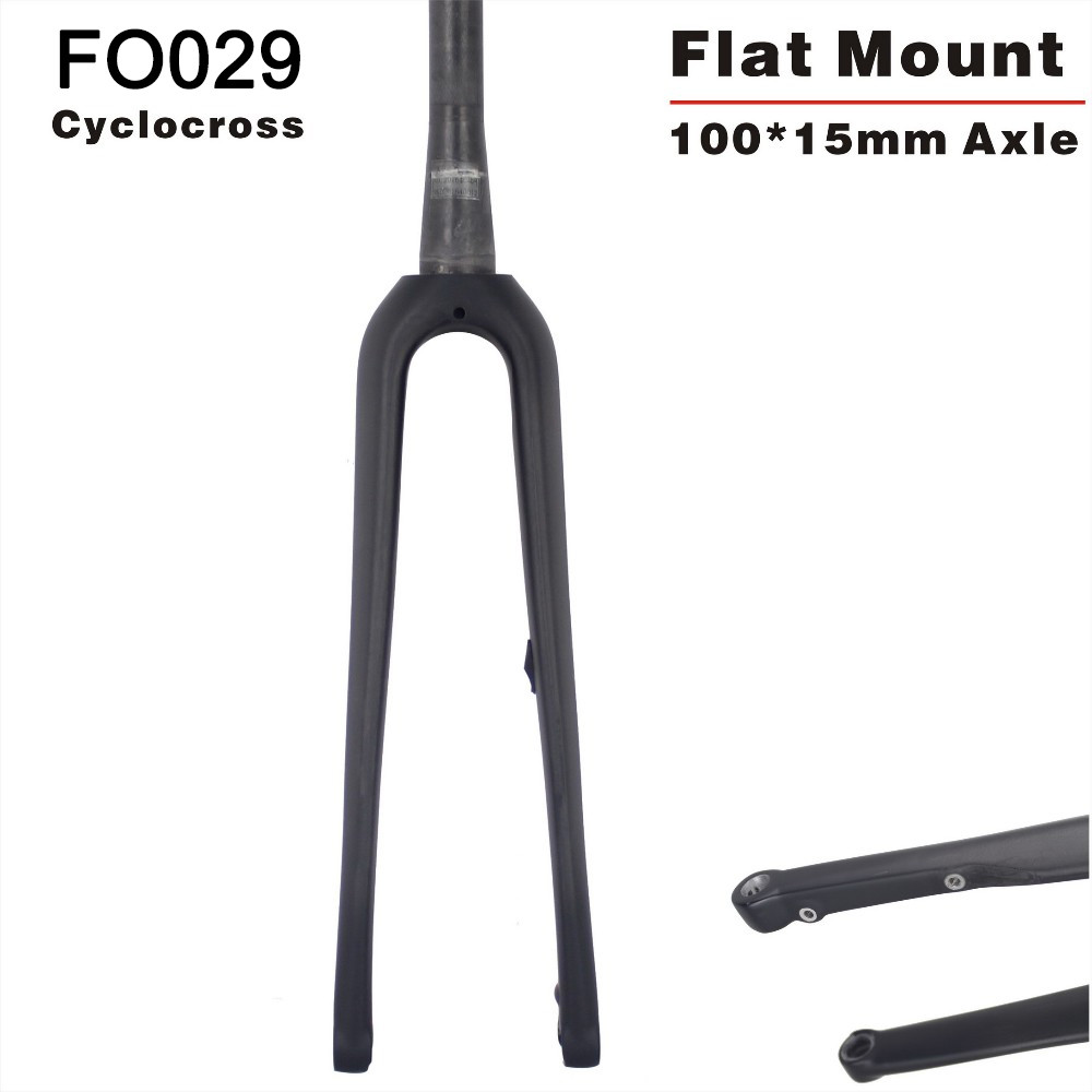 Thru-axle Carbon Road Bicycle Fork 160mm, 700C disc brake