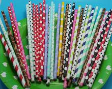 Different designs for festival, paper straws