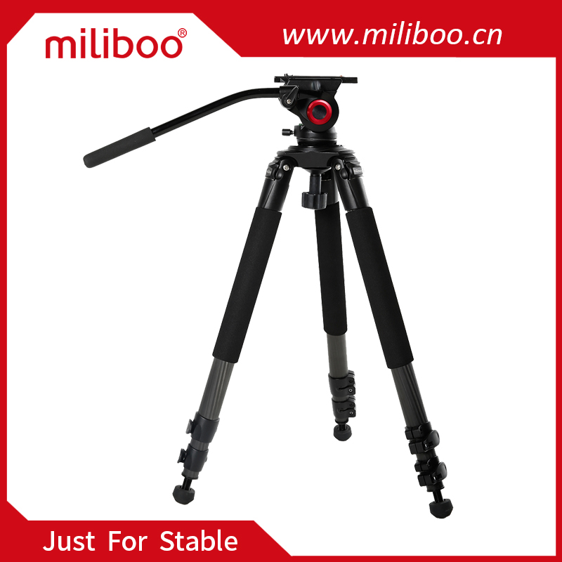 miliboo 3 section durable carbon fiber camera tripods