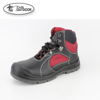 Rubber Steel Toe and steel Plate Safety Shoes