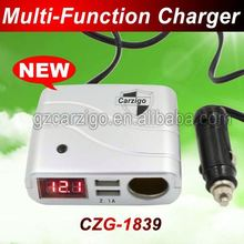 4-wheel drive off-road accessories high power DC 0-24v input for ebook,ereader dual usb car charger with 12v socket