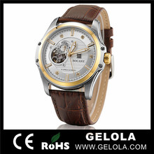 Cheap Round Automatic Watch Best Leather mens two tone automatic dive watches