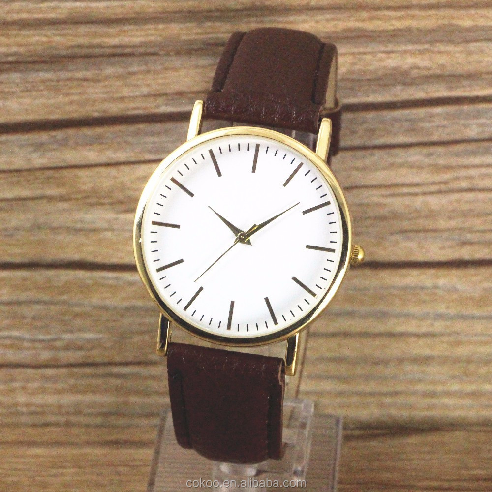 Hot selling Women Leather watch colorful leather strap OEM wholesale