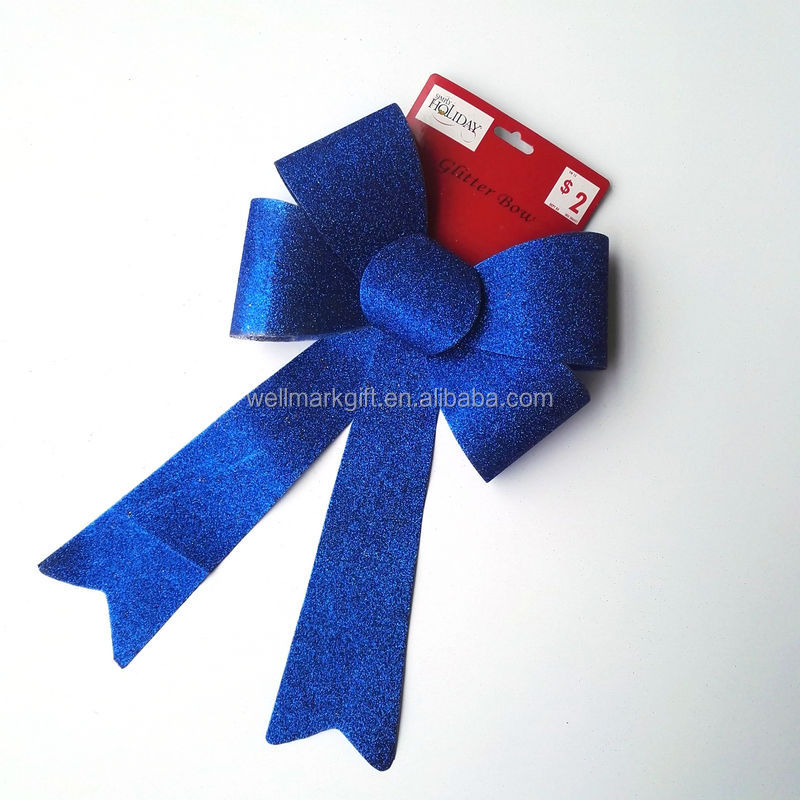 Royal Blue Christmas Gift 2017 Decoration Ribbon Bow Products