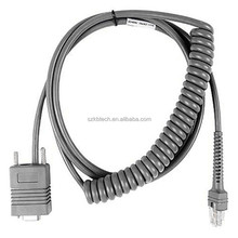 9ft 3M CBA-R02-C09PAR Coiled Retractable RS232 Symbol Barcode scanner cable for scanner LS2208 LS4278 LS7708 LS4408