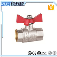 ART.1017 China online shopping factory price forged butterfly handle 2 way 1/2 1 inch water gas and oil CW617n brass ball valve