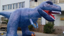 Large inflatable dinosaur model for display