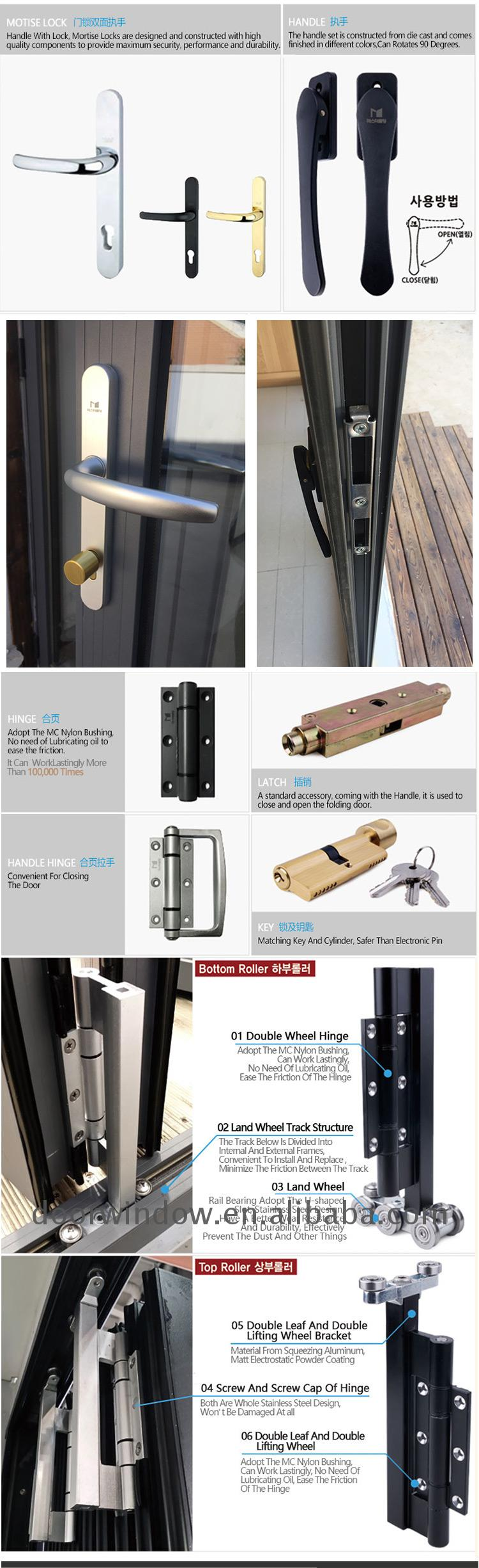 made by chinese factory aluminum bi fold windows with low price