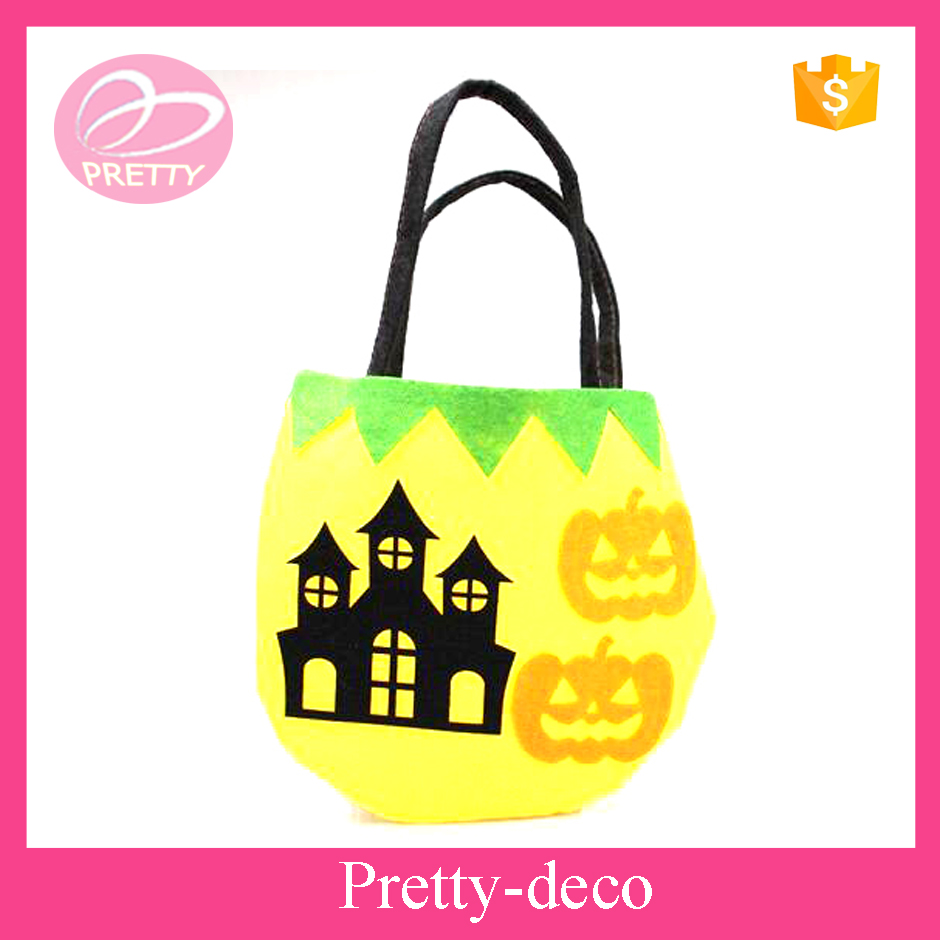 Pumpkin craft felt bag for halloween day