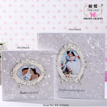 Inlove 10x10 and 15x15 Alloy metal Frame Deco crystal cover photo album