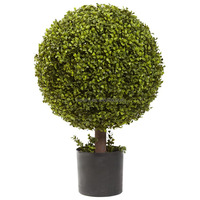 Potted Artificial Boxwood Ball Topiary Tree