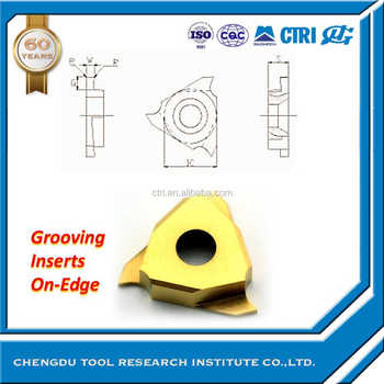 vertical triangle grooving inserts turning insert