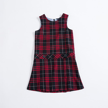 China manufacturer school-uniform sample school uniform dress patterns europe plaid dress with low price
