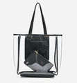 Transparent Promotional PVC Shopping Bag for Woman