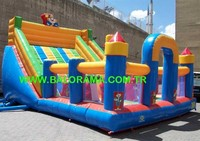 inflatable clown park area, inflatable slides for commercial use - inflatable bouncers
