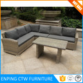 Luxury Durable Easy Cleaning Garden Outdoor Lounge Aluminium Sofa