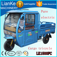 High quality electric cargo tricycle with carbin/electric cars made in china/Low price cargo electric motorcycle