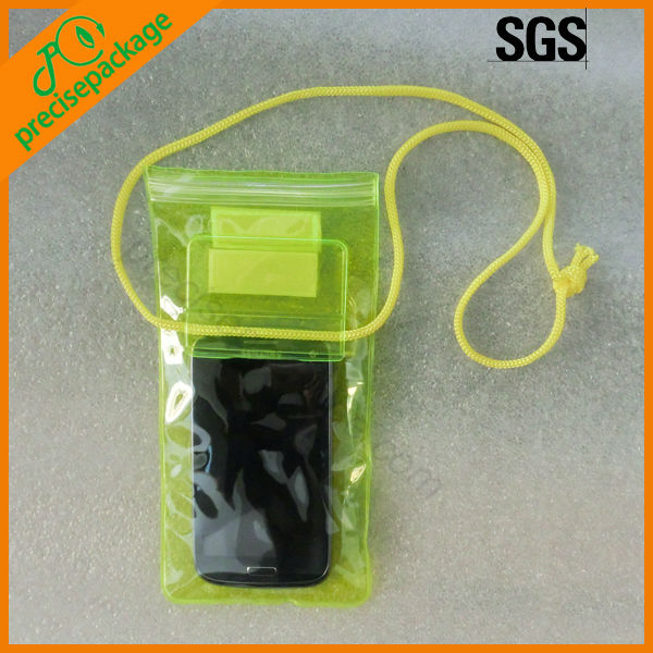 promotion cheap pvc waterproof mobile phone bag