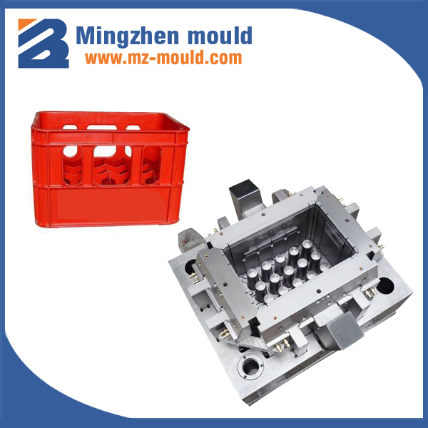 customer made high quality injection 24 bottles beer crate mold
