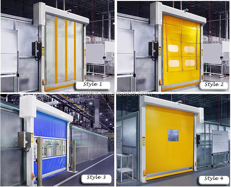 2016 Wuxi Factory ISO9001 CE SGS certificate New design industrial rolling gate rapid roller shutter high speed door