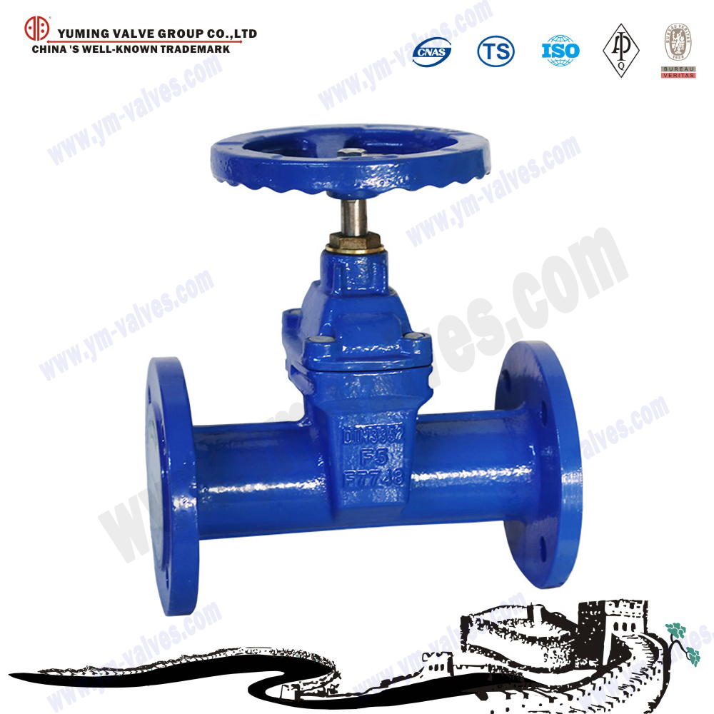 DIN3352-F5 Non-rising stem resilient soft seat gate valve