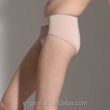 Embroidery flower sheer mesh nude women panties