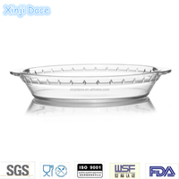 Trade assurance disposable high-borosilicate glass shallow baking pan