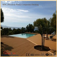 Waterproof swimming pool WPC decking composite flooring