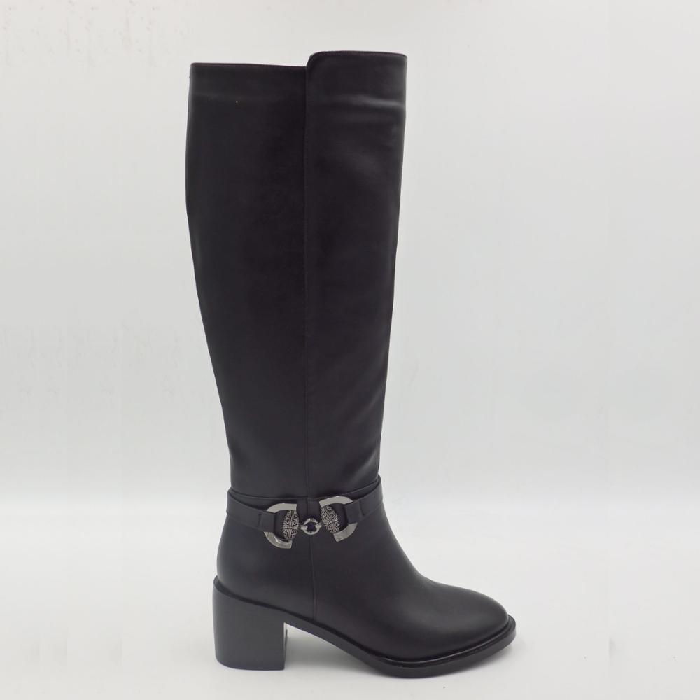 Hot sale custom fashion winter women chunky heels high <strong>boots</strong>