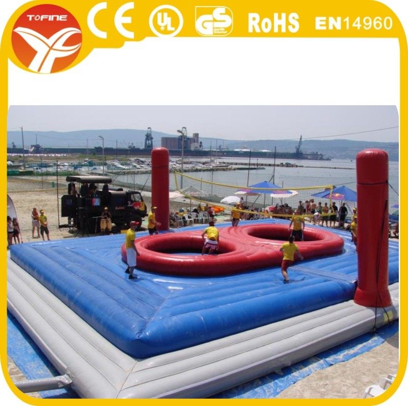 2016 New inflatable volleyball court soccer field sports games