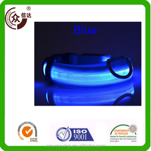 LED Dog fashion collar and leash/Charming LED pet polyester collar