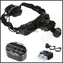8 Lens 1X-20X LED Headlamp Magnifying Glass Headband Jewel Watch Repair Loupe Magnifier