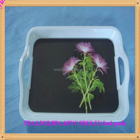 Wholesale cheap melamine serving tray with handle melamine dinnerware trays melamine tray set