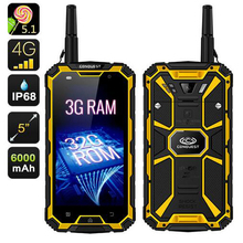 CONQUEST S8 Walkie Talkie Phone 3GB RAM 32GB Quad core Ip68 Waterproof PTT Mobile Phone